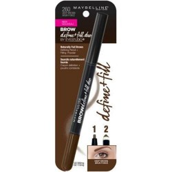 Maybelline eye studio eyebrow define plus fill duo, deep brown - 2 ea