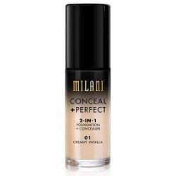 Milani perfect foundation plus concealer, creamy vanilla - 3 ea