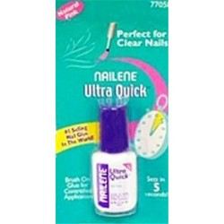 Nailene ultra quick pink brush on nail glue -4 ea