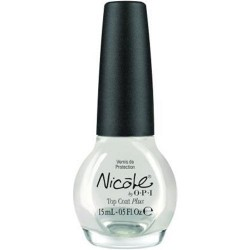 Nicole by opi nail lacquer, top coat plus - 2 ea