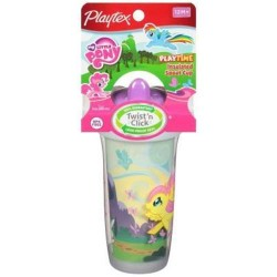 Playtex sipsters my little pony spout sippy cups - 3 ea