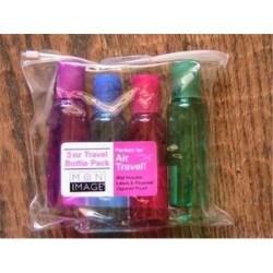 Paris presents mon image translucent 4 piece travel bottles, 3 oz  - 3 ea