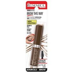 Rimmel brow this way brow gel, medium brown - 3 ea