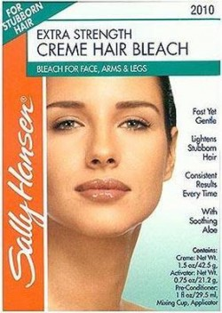 Sally hansen extra strength creme hair bleach for face, arms and legs - 2 ea