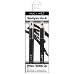 Wet n wild coloricon twin eyeliner pencils, black - 3 ea