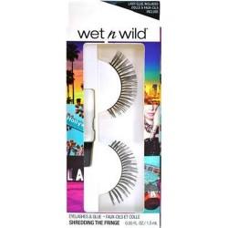 Wet n wild eyelashes and glue, shredding the fringe - 3 ea