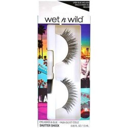 Wet n wild eyelashes and glue, shutter shock - 3 ea