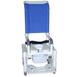 MJM international Adjustable Shower Commode Chair, 114-L-3TL-H-ADJ - 1 ea