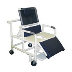 MJM International Bariatric Reclining Shower Chair, 196-26-BAR - 1 ea