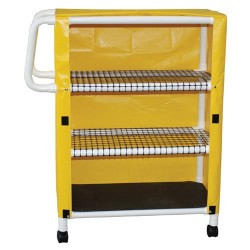 MJM international Cart With Three Ventilated Shelves, 332T-3C- 1 ea