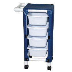 MJM International Specialty Cart with Four Pull Out Tubs  - 1 ea