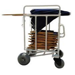 MJM international All Terrain Chair And Umbrella Cart, 785 - 1 ea