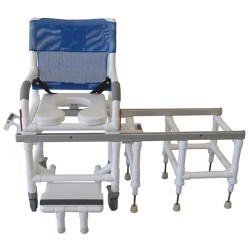 MJM international All Purpose Dual Shower/Transferchair, D118-5-SLIDE - 1 ea