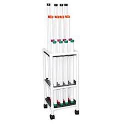 MJM International Therapy Rehab Weight Bars Mobile Storage Cart, TRWB-20C - 1 ea