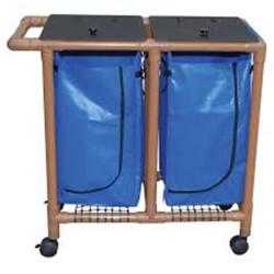 MJM international WoodTone Double Bag Hamper, WT214-D - 1 ea