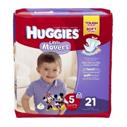 Huggies little movers diapers, jumbo pack size 5 - 21 ea