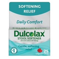 Dulcolax stool softener liquid gels - 25 ea