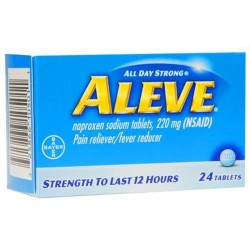 Aleve all day strong pain reliever, fever reducer, tablets - 24 ea