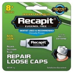 Recapit loose caps repair dental cement - 0.4 oz