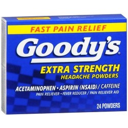 Goodys extra strength fast pain relief powder temporarily relieves minor aches and pains - 24 ea