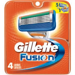 Gillette fusion catridges for the manual razor - 4 Each