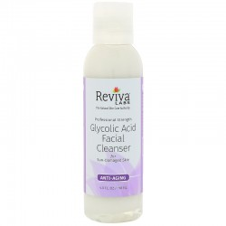 Reviva labs, glycolic acid facial cleanser - 4 oz