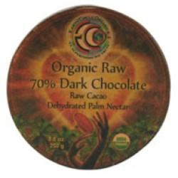 Earth circle organics raw 70percentage dark chocolate  -  8.8 oz