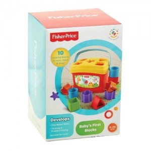 Brilliant basics babys first blocks for 6 months age kids by fisher price - 1 ea