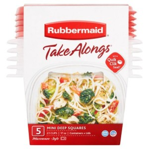 Rubbermaid takealong 5 piece mini deep square set - 2 ea