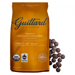 Guittard organic semisweet chocolate baking wafers - 12 oz, 8 pack