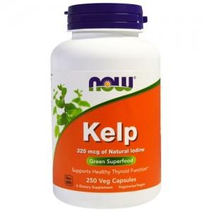 Now Foods kelp 325 mcg veg capsules - 250 ea