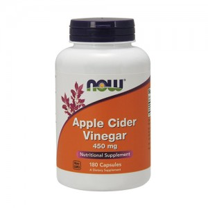 Now Foods apple cider vinegar 450 mg, capsules - 180 ea