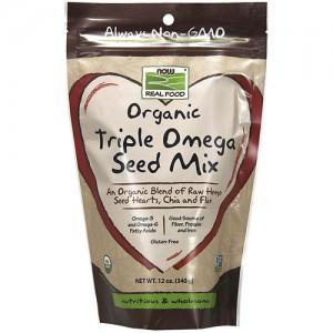 Now Foods real food organic triple omega seed mix - 12 oz