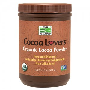 Now Foods real food cocoa lovers organic cocoa powder - 12 oz