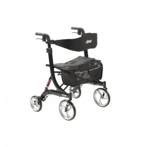 Drive Medical nitro euro style walker rollator, heavy duty, black - 1 ea