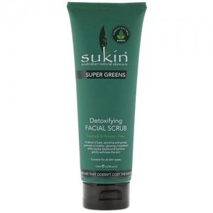 Sukin super greens detoxifying facial scrub - 1 ea