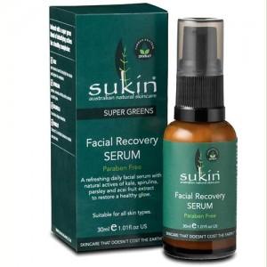 Sukin Super Greens Facial Recovery Serum - 1.01 oz