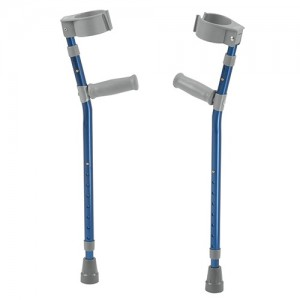 Drive Medical pediatric forearm crutches, medium, wizard purple, pair - 1 ea
