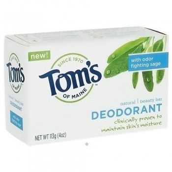 Toms of Maine Deodorant Bar Soap, Odor Fighting Sage - 4 oz