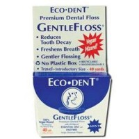 ECO-DENT FLOSS,VEGAN,WAXED - pack of 6, 40 yds