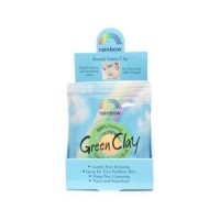 Rainbow research green clay packet display center case of 12 - 0.75 oz