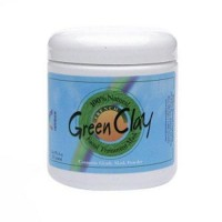 Rainbow research french green clay facial cleansing mask powder jar - 8 oz