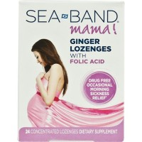 Sea-Band mama ginger lozenges with folic acid - 24 Lozenges