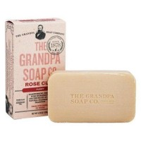 Grandpas soap co face and body bar soap rose clay - 4.25 oz.