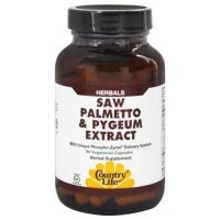 Country life  saw palmettond pygeum caps vegetarian capsules - 90 ea