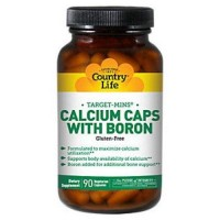 Country Life calcium caps with boron capsules - 90 ea