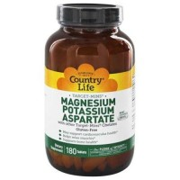 Country life  target mins magnesium potassium aspartate - 180 ea