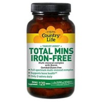 Country Life Target Mins Iron-free Total Mins Multi-mineral Complex - 120 ea