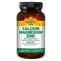 Country life vitamins calcium magnesium zinc - 250 tab