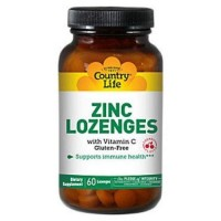 Country life zinc lozenges cherry flavor - 60 ea